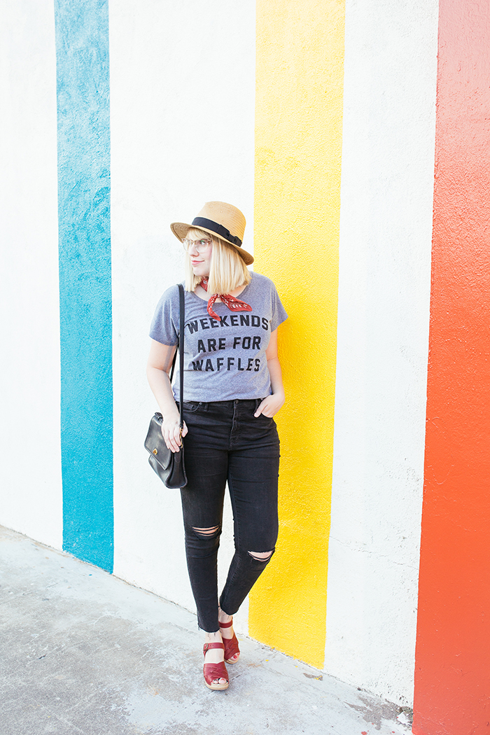 austin fashion blogger writes like a girl weekends are for waffles shirt1