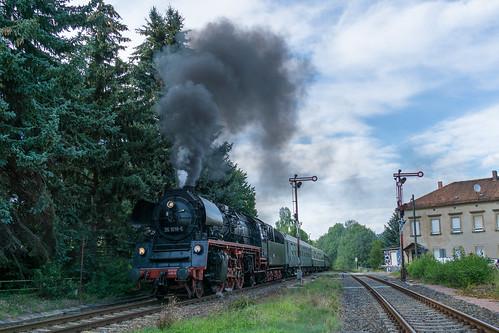 35 1019 bei einer Scheinanfahrt in Miltitz-Roitzschen