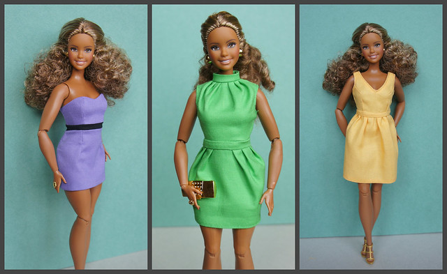 Three Dresses for Articulated Curvy Barbie