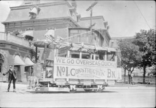No. 1 Overseas Construction Battalion recruitment streetcar, Toronto, Ontario / Tramway de recrutement pour le 1e bataillon (Ontario)