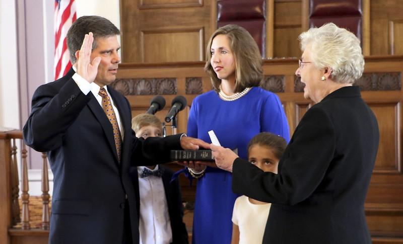 08-11-17 Hal Taylor sworn in as ALEA Secretary