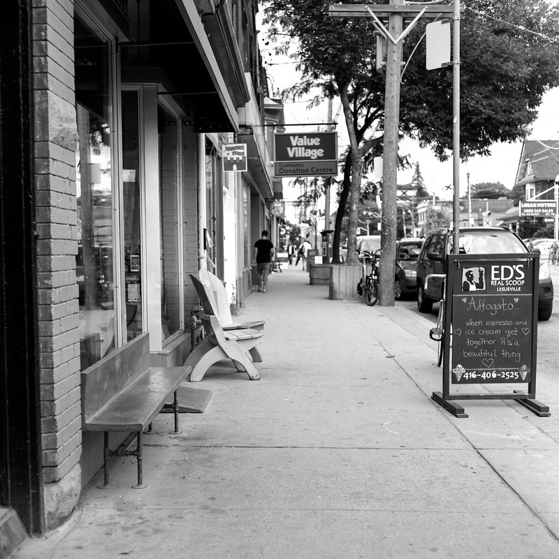In Front of the Leslieville Ed's
