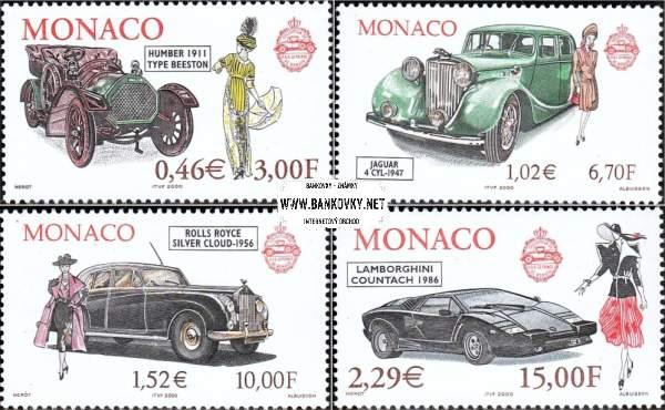 Známky Monako 2000 Automobily a móda