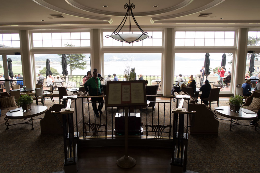Walking around Pebble Beach Golf Club