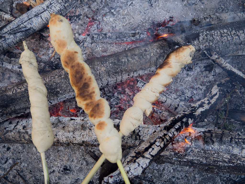Recipe for homemade Danish Bonfire bread (snobrød)