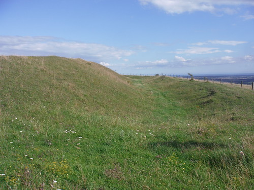 Ditch and Bank of Iron-Age Hillfort: The Trundle