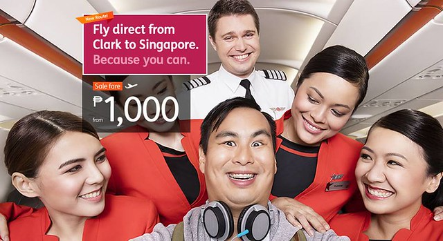 New Route Clark to Singapore Promo Php1000