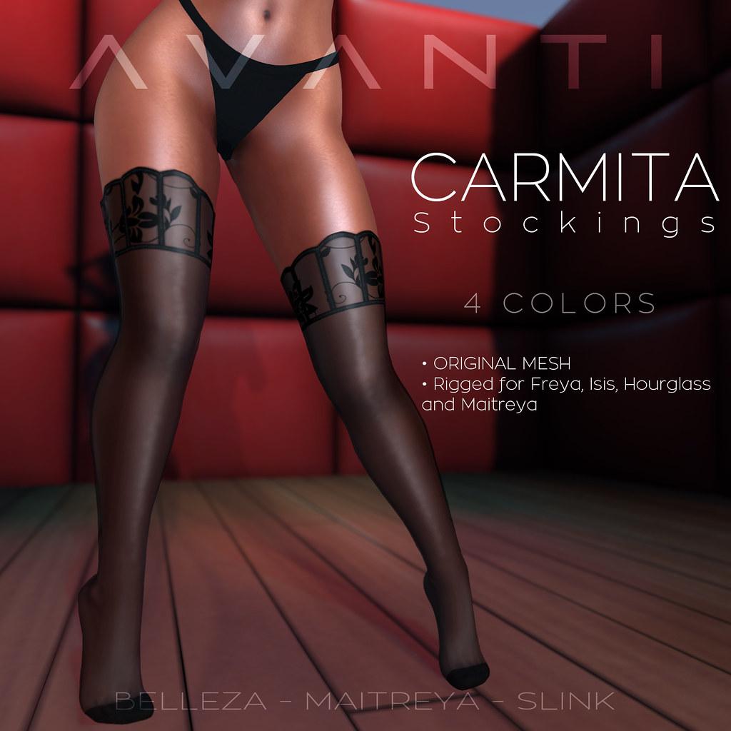 Avanti @ Frou Frou: Carmita Stockings - TeleportHub.com Live!