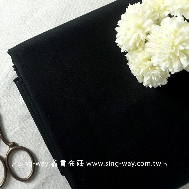 3C360002 黑色素面 T/C 棉布 斜紋布
