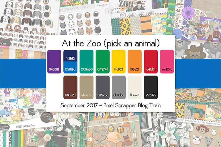 September 2017 DigitalScrapbook.com Blog Train - At the Zoo