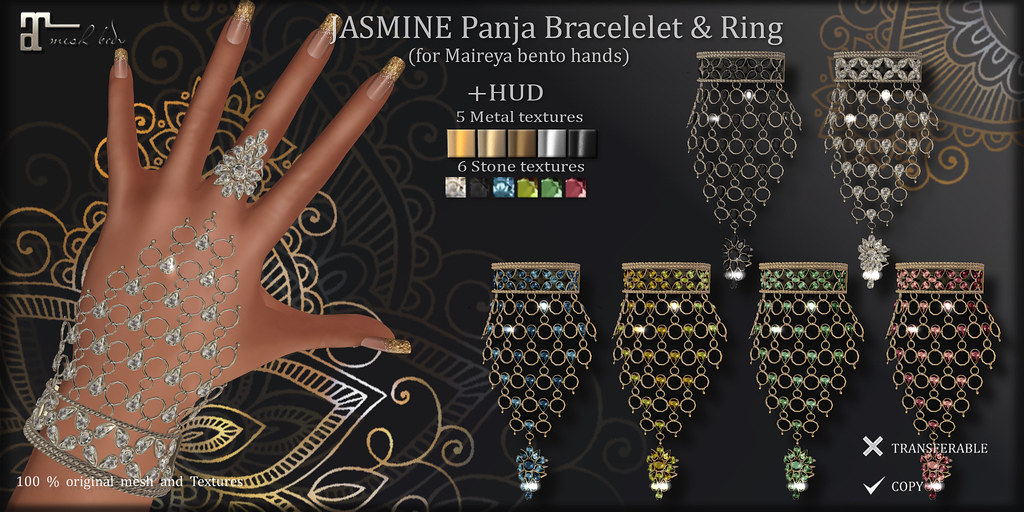 JASMINE Bracelet & Ring (for Maitreya Bento hands)