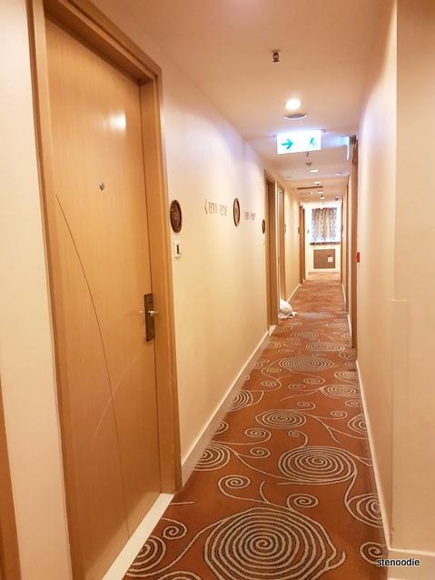 Dorsett Mongkok Hong Kong hallway