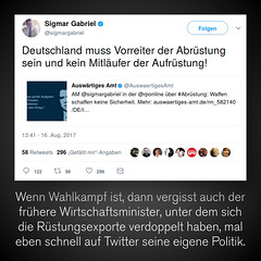 Sigmar Gabriel grüßt aus Alzheim…