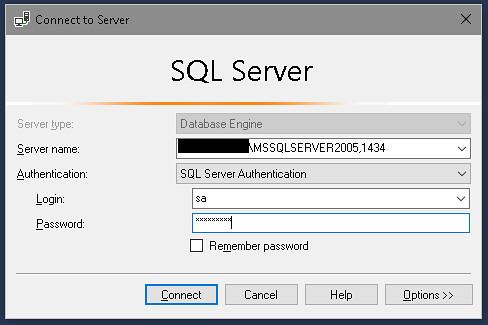 MSSQL, vessző
