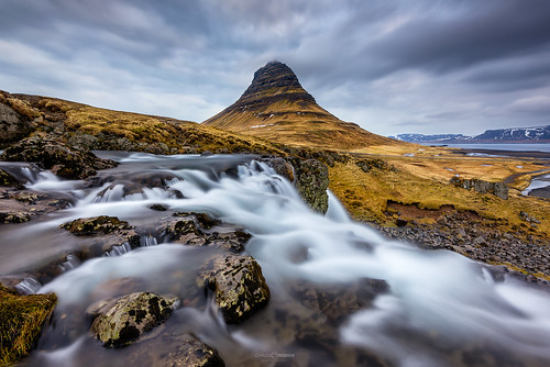 progrey sunrise dreamer call landscape iceland niceland kirkufell d810 1424 flow le longexposure water river motion clouds color travel mountains valley peak scenery hillside sky