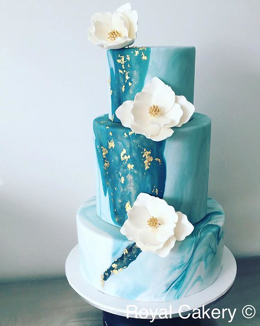 Marble Fondant Cake by Royal Cakery Australia