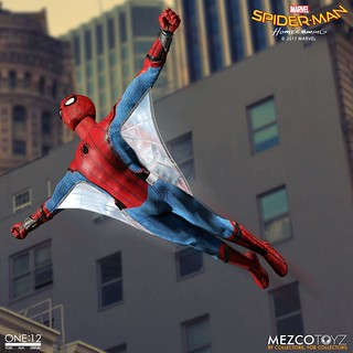 「官圖&販售資訊公開!!」MEZCO – ONE:12 COLLECTIVE 系列【蜘蛛人:返校日】Spider-Man: Homecoming 1/12 比例人偶作品