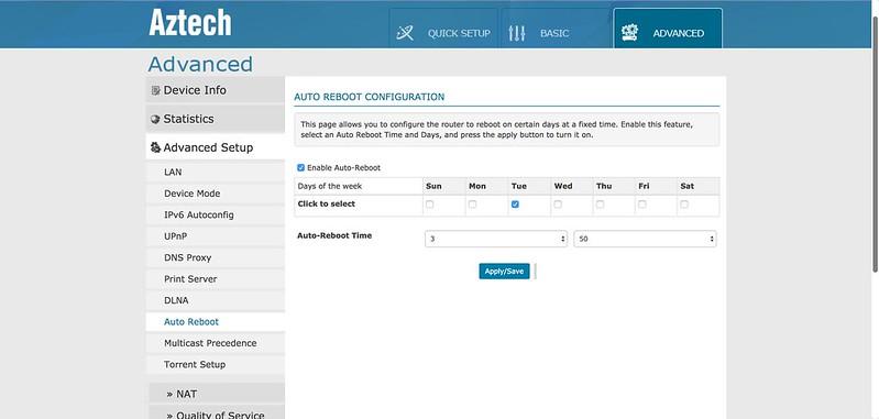 AIR 706P - Web - Auto Reboot