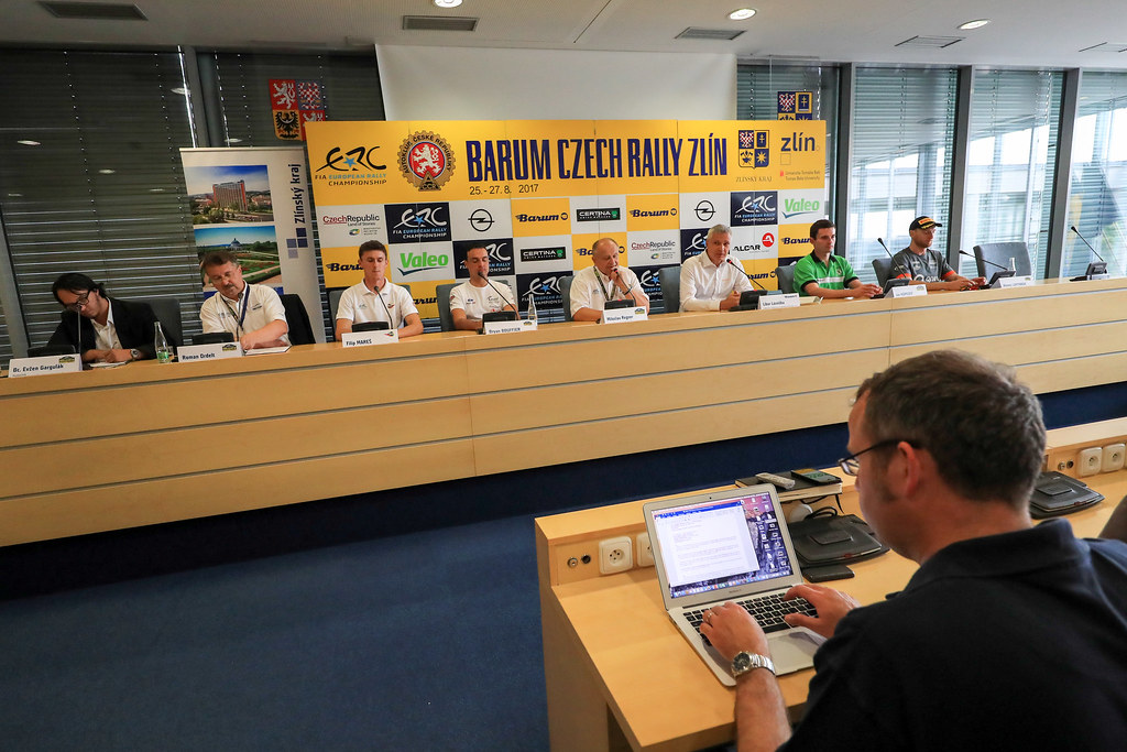 Pré Event Press Conderence during the 2017 European Rally Championship ERC Barum rally,  from August 25 to 27, at Zlin, Czech Republic - Photo Jorge Cunha / DPPI