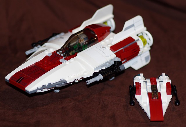 Two Lego A-Wing Starfighters