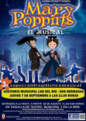 Cartel del musical Mary Poppins