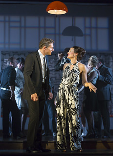 Mark Umbers and Aimee Doherty in Merrily We Roll Along