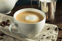 Homemade Flat White Latte