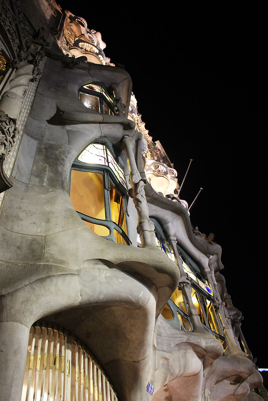 casa batllo de nuit bacelona