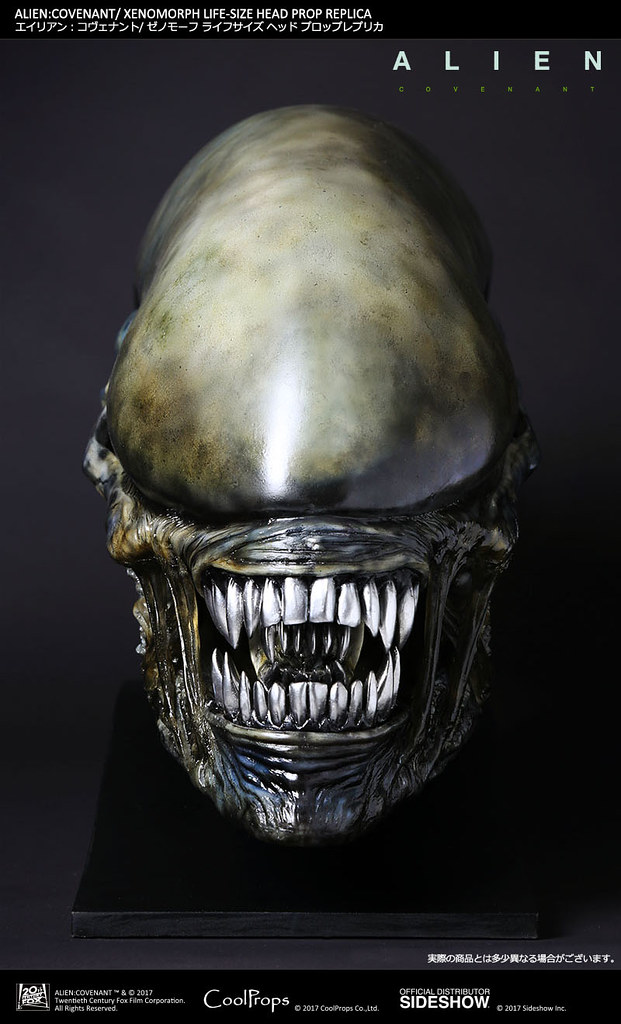 逼真到讓你嚇得屁滾尿流~~CoolProps 異形:聖約【異形】Alien: Covenant Xenomorph 1:1 比例頭像道具複製品