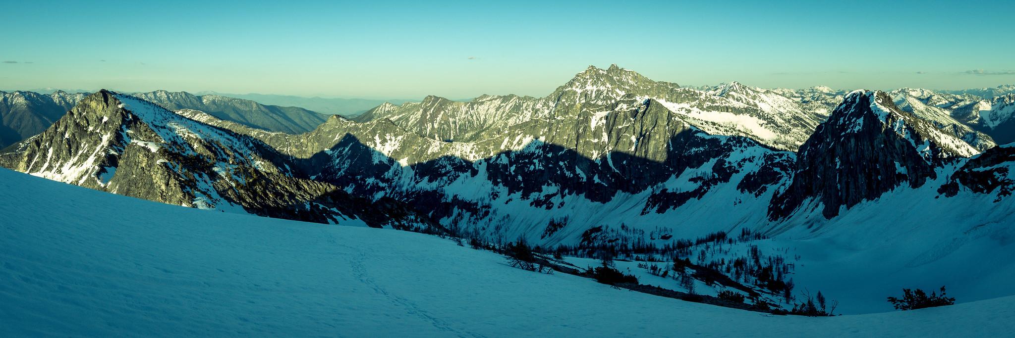 Panoramic view in basin