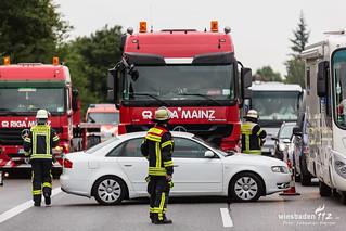 Zusammenstoß mit Lkw A66 Biebrich 11.08.17