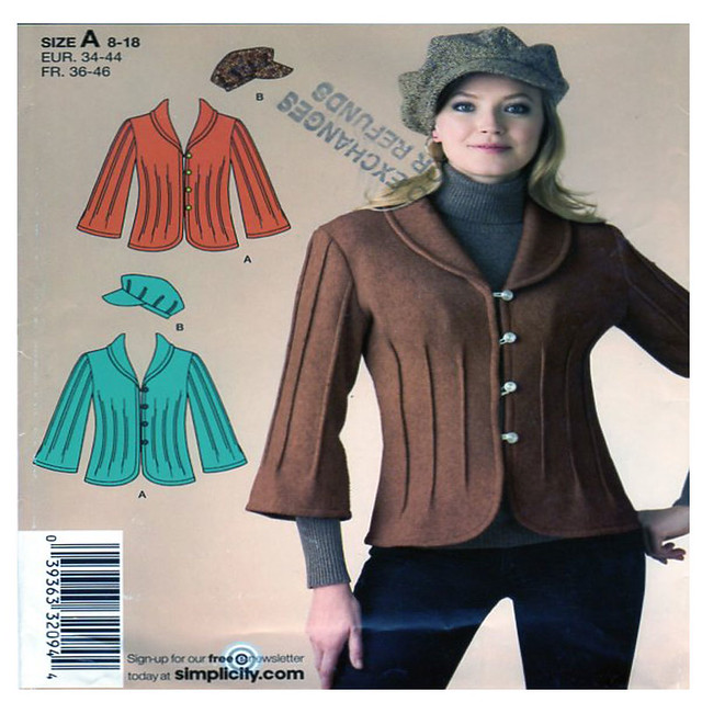 Simplicity 2808 coat and hat pattern