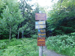 Mt Marcy Trail Mileage Signs