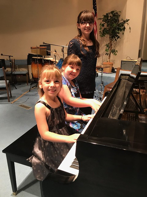 My girls after the piano recital