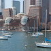 Der Hafen Boston mit Segelbooten in Boston, USA by marcoverch