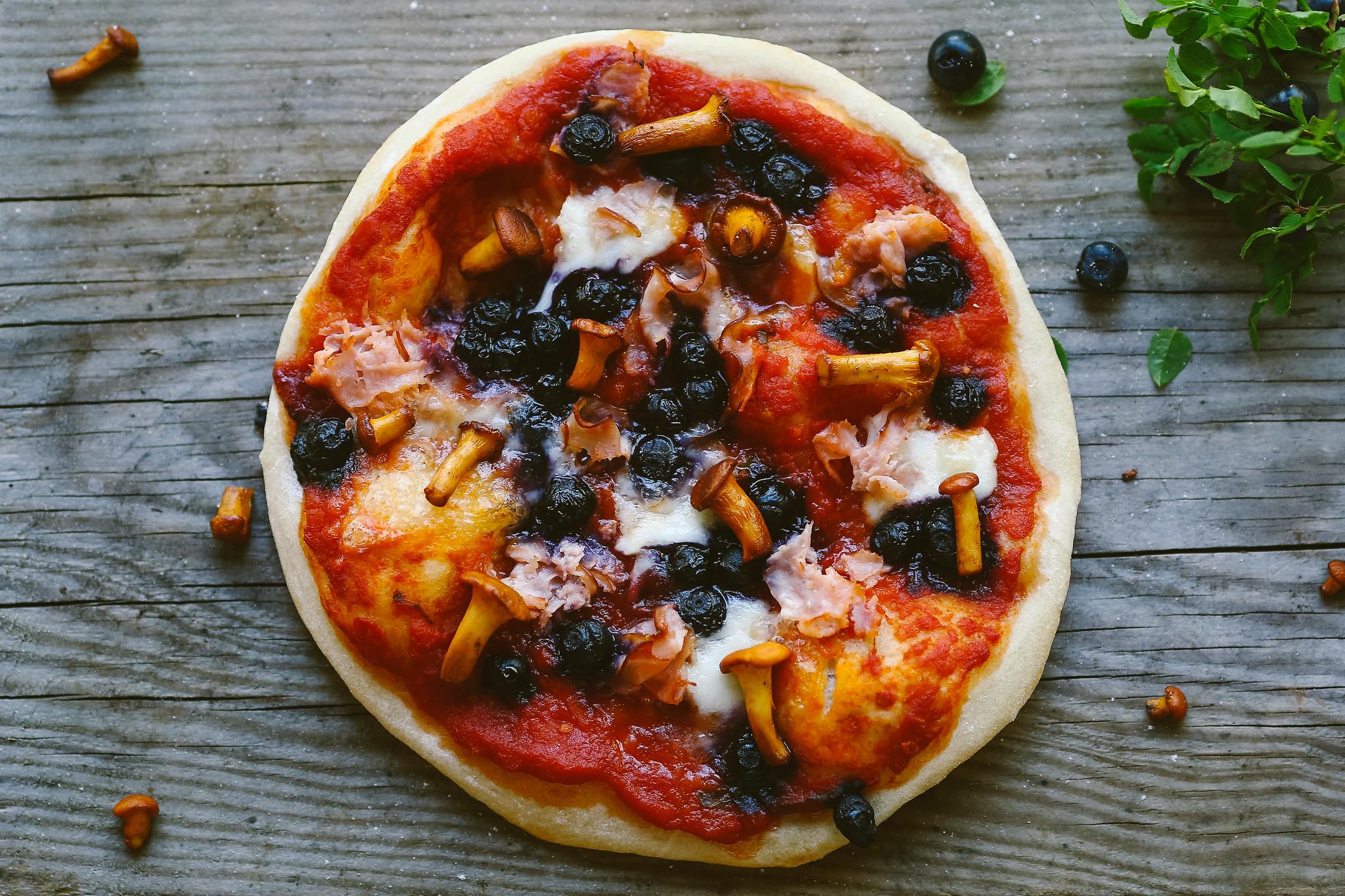 Mustikkapizza