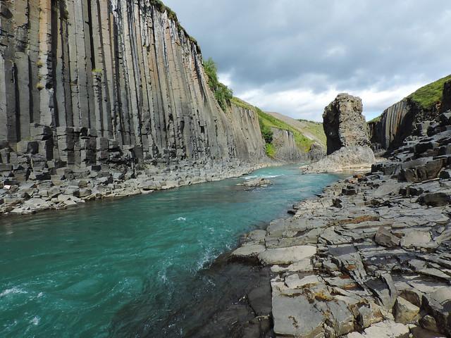 The Basalt Column Canyon, Iceland