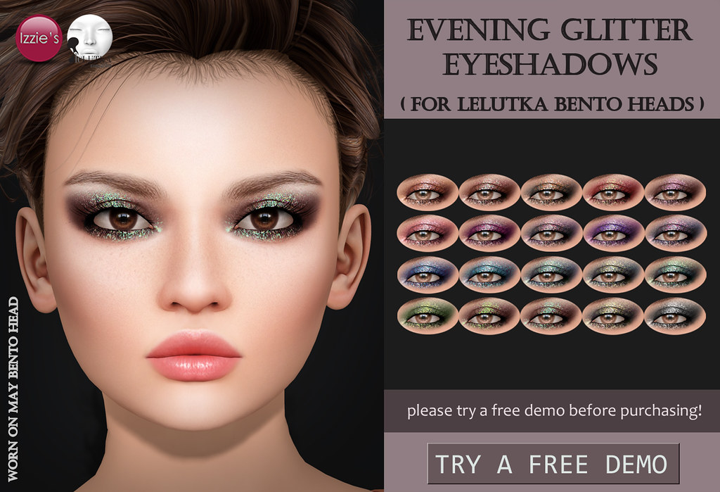 Evening Glitter Eyeshadows (LeLutka) - SecondLifeHub.com