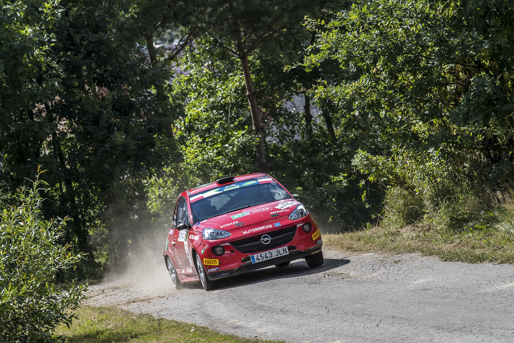 43 KUPEC Radomir (CZE) GLÖSSL Petr (CZE) Opel Adam R2 action during the 2017 European Rally Championship Rally Rzeszowski in Poland from August 4 to 6 - Photo Gregory Lenormand / DPPI
