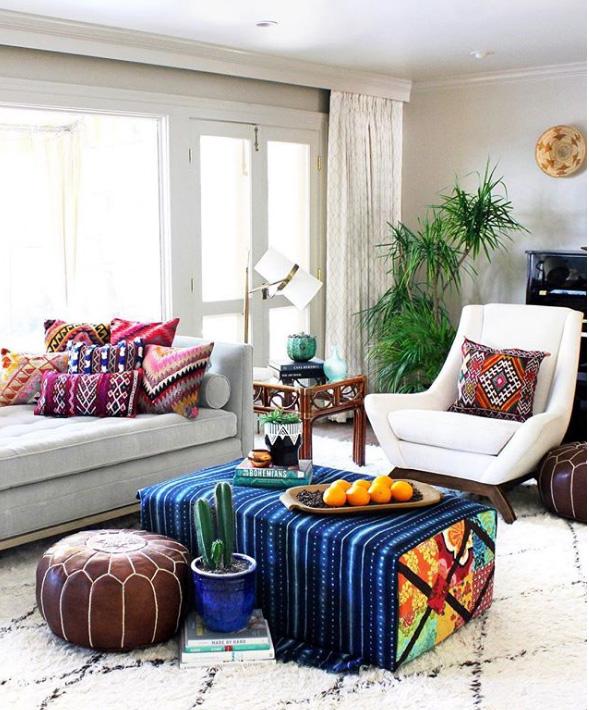 indigo and kilim textiles