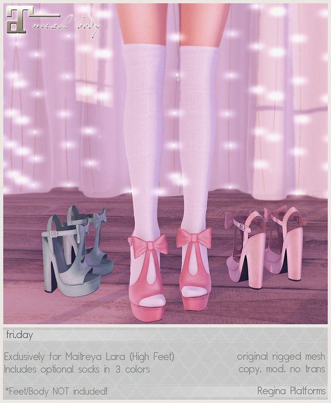 friday - Regina Platforms for Blush!