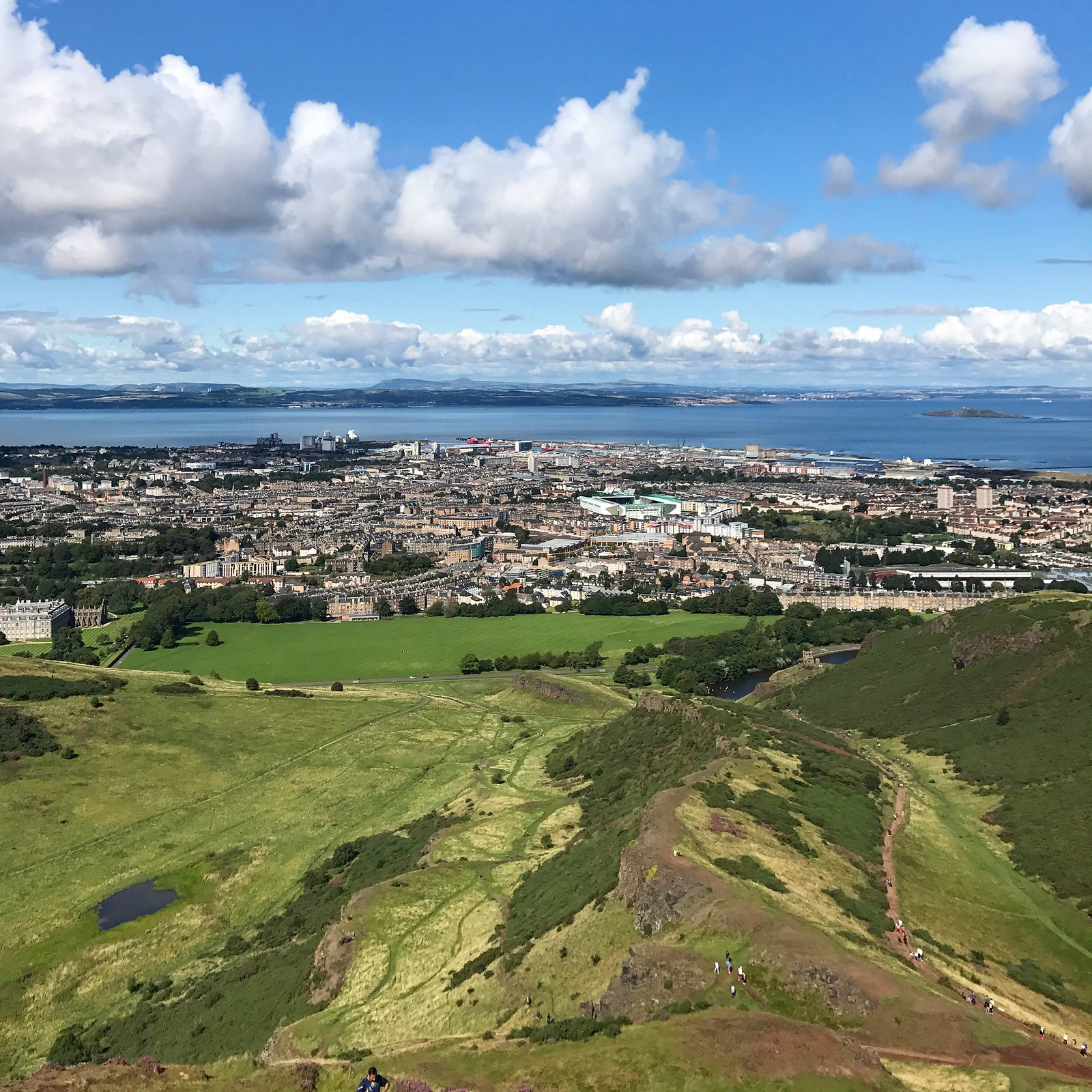 The view of Edinburgh from Arthur's Seat