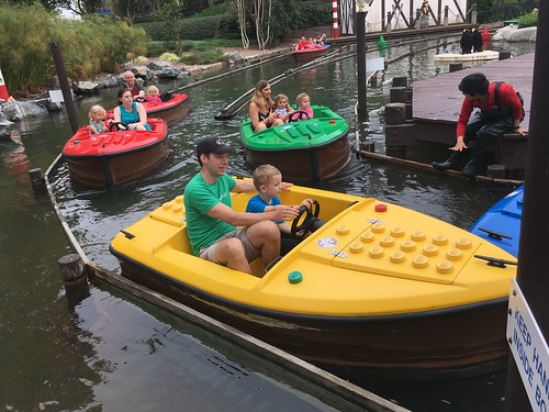 Patrick and Arlo on Legoland Skipper School Boat