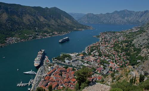 kotor montenegro bayofkotor cruiseship queenvictoria cunard yacht view fjord boka hiking adriaticsea balkan nikond700 7s54057v2 bokakotorska bay nikkor