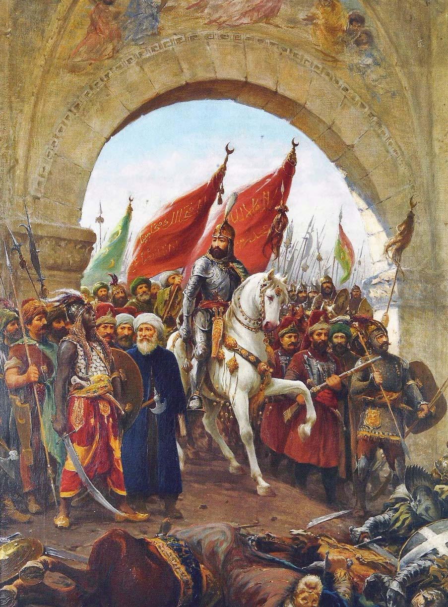 Sultan Mehmed II's entry into Constantinople in 1453. Painting by Fausto Zonaro.