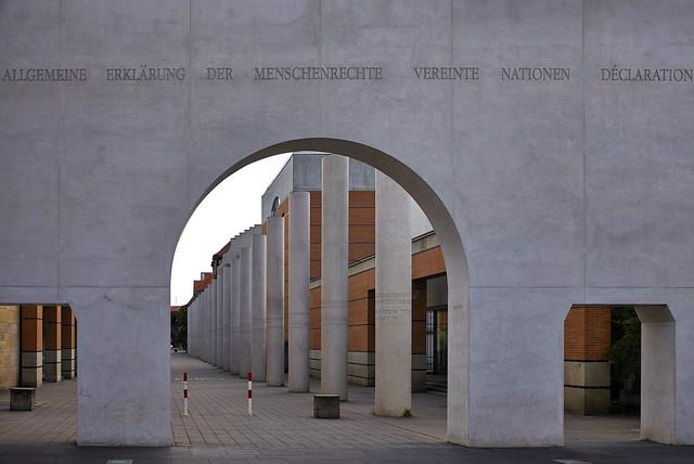 Der Eingang zur Straße der Menschenrechte