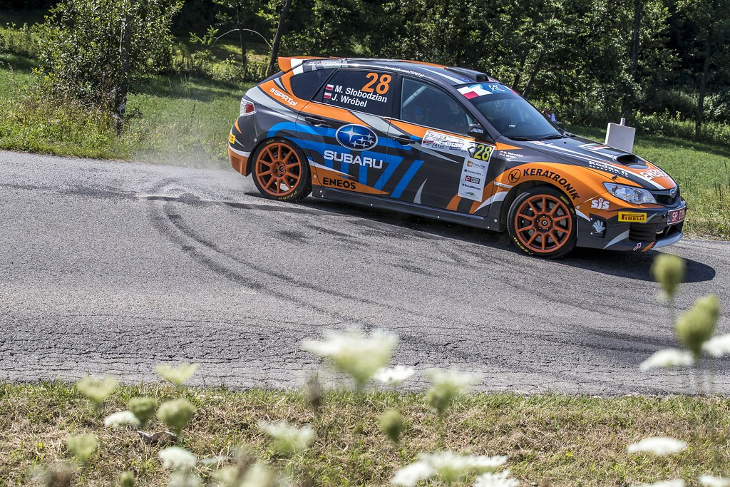 28 SLOBODZIAN Marcin (POL) WRÓBEL Jakub (POL) Subaru Impreza STI action during the 2017 European Rally Championship Rally Rzeszow in Poland from August 3 to 5 - Photo Gregory Lenormand / DPPI