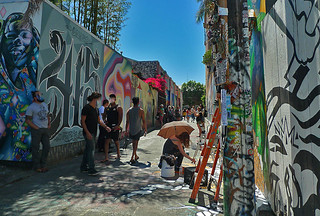 Mural in the City - Clarion Alley Crowd