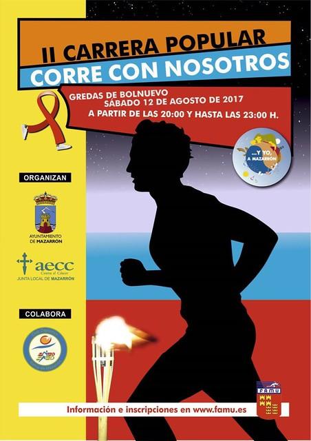 """II edición de la Carrera popular """"Corre con nosotros"""". Bolnuevo 12 de agosto de 2.017"""