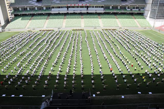 16/09/2017. Alexandre Kalil nos 10 anos de Lian Gong em BH no Estádio Independência. Fotos: Rodrigo Clemente/PBH